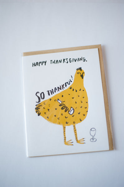 Thanksgiving Chicken Letterpress Card