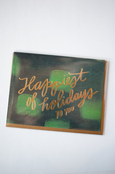 Happiest of Holidays Letterpress Card