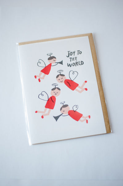 Wishing You Joy Letterpress Cards