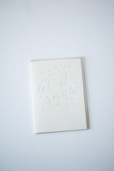 Let It Snow  Letterpress Cards