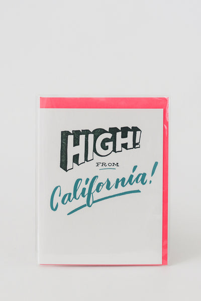 High! from California Letterpress Card