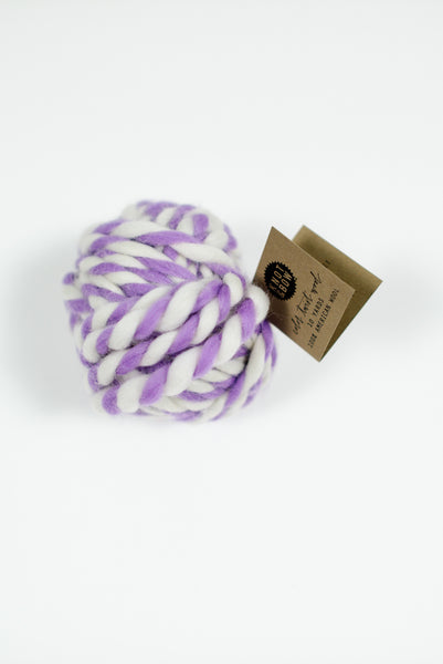 Lavender Twist Wool Ball