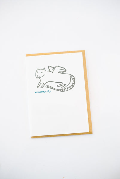 Cat Sympathy Letterpress Card