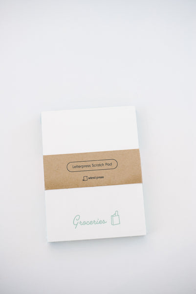 Groceries Letterpress Notepad