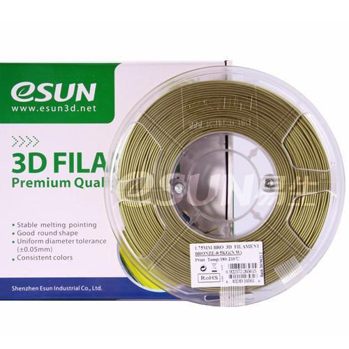 ESUN Filament 1.75mm eSUN Bronze PLA 3D Printer Filament 0.5kg