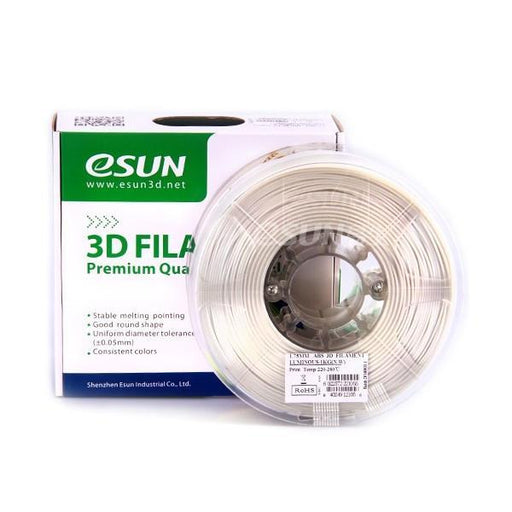 ESUN Filament Luminous Blue eSUN ABS Luminous Glow-In-Dark 3D Print Filament 1.75mm 1kg