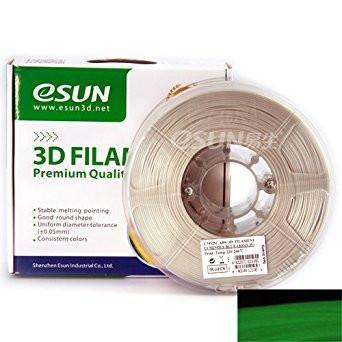 ESUN Filament Luminous Green eSUN ABS Luminous Glow-In-Dark 3D Print Filament 1.75mm 1kg