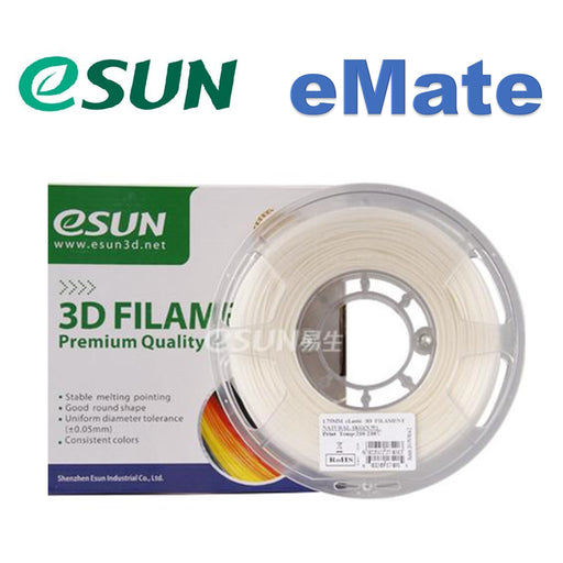 ESUN Filament Natural eSUN eMate Low Temperature PCL 3D Filament 1.75mm 0.5kg
