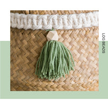 Macrame Decoration Wicker Basket - modernbedspace