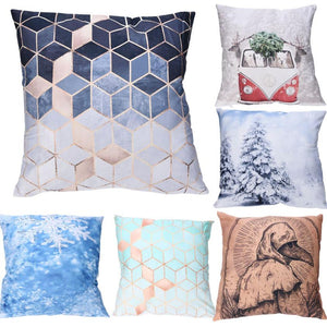 3D Geometric Polyester Mosaic Cushion Cover - modernbedspace
