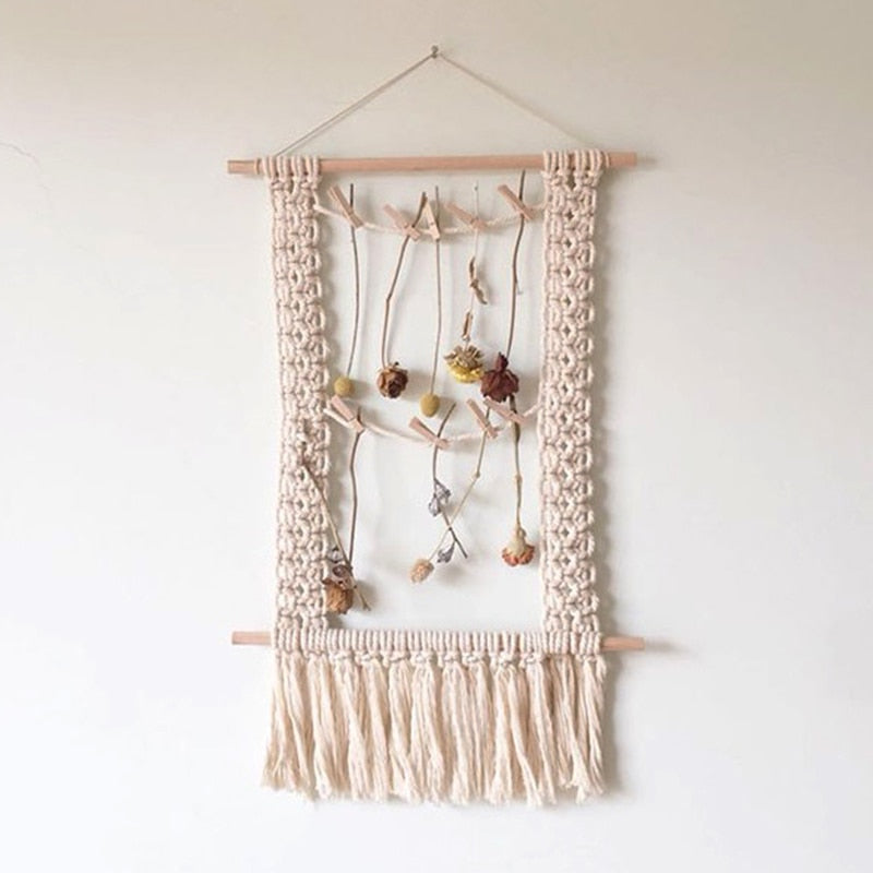 INS Wall Hanging Macrame Wall Hanging Large Above Bed Decor Neutral Wall Decor Boho Home Decor Tapestry Woven Wall Hanging - modernbedspace