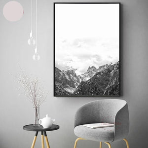 Nordic Style Mountain Canvas Art - modernbedspace