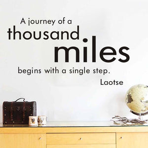 A Journey Of A Thousand Miles Wall Decal