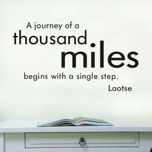 A Journey Of A Thousand Miles Wall Decal - modernbedspace