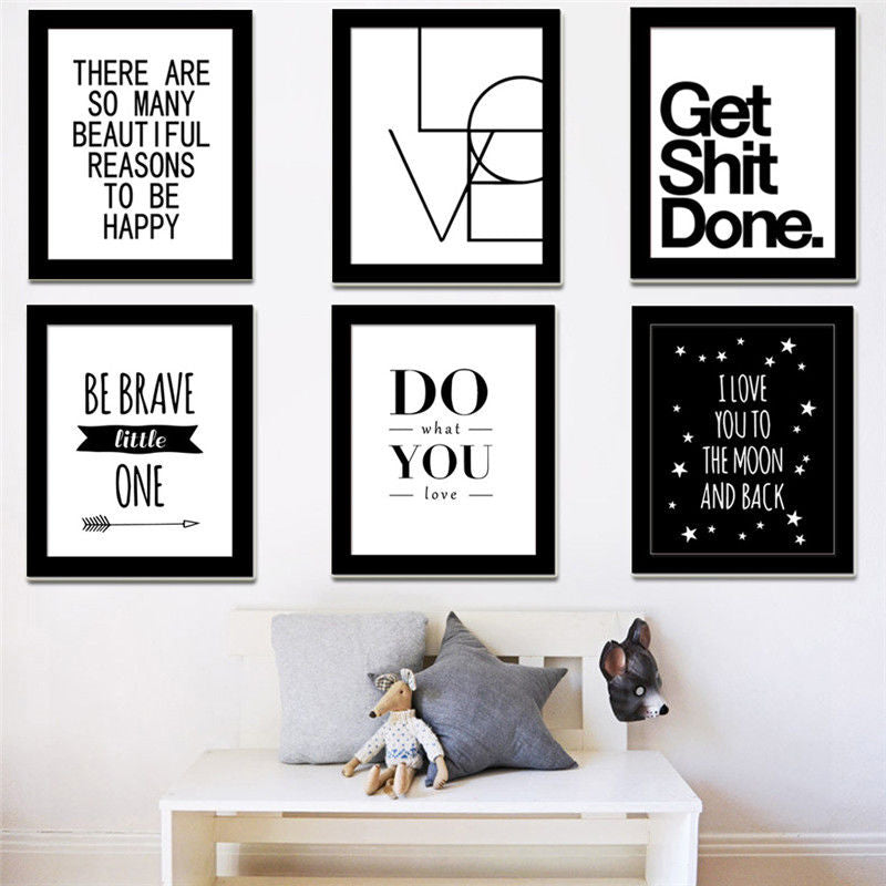 Motivational Quotes Canvas Print Wall Art - modernbedspace