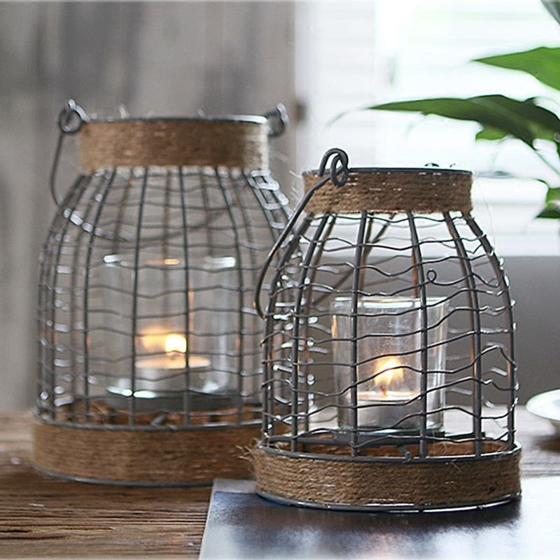 American Simple Retro Iron Candle Holders - modernbedspace