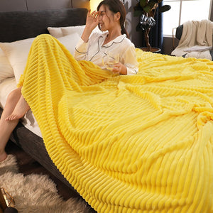Soft Warm Square Flannel Blanket Throws