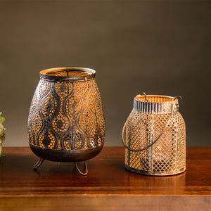 Classic Moroccan Decor Candle Holders - modernbedspace
