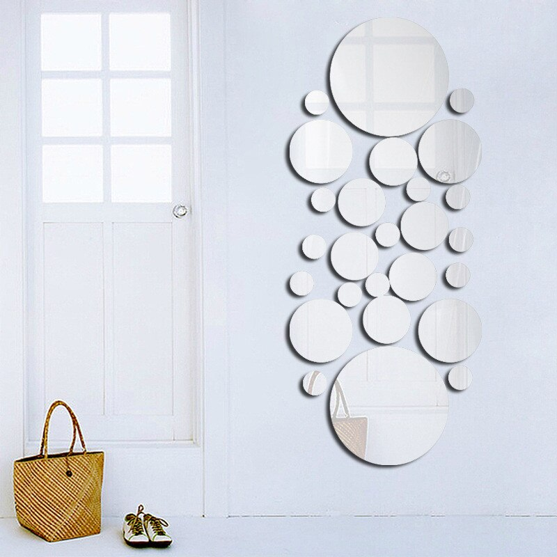 Geometric Circle 3D Stereo Removable Mirror