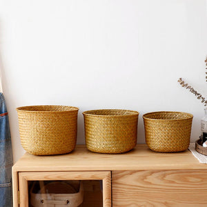 Hand Knitted Toy Storage Basket - modernbedspace