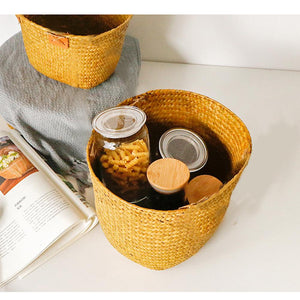 Hand Knitted Toy Storage Basket