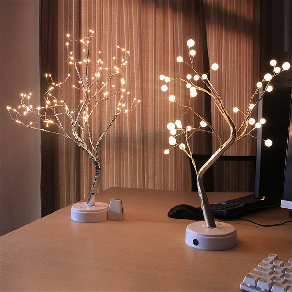 LED Tree Light Table Lamp Bedroom Decor - modernbedspace