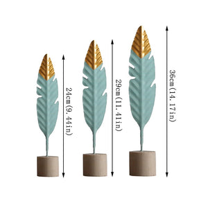 Modern Feather Wooden Decorations - modernbedspace