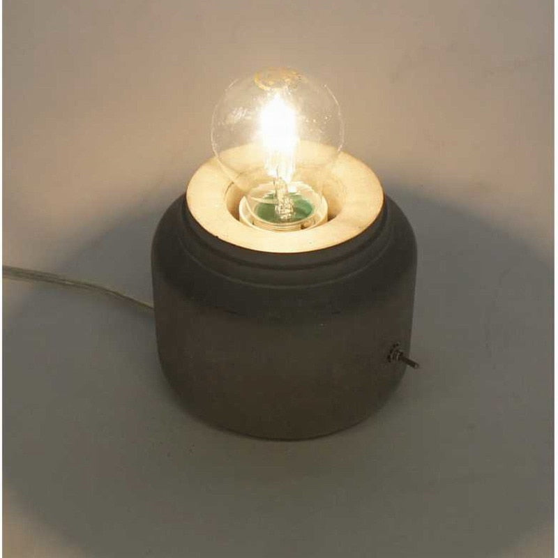 Funny Concrete Cement Table Lamp