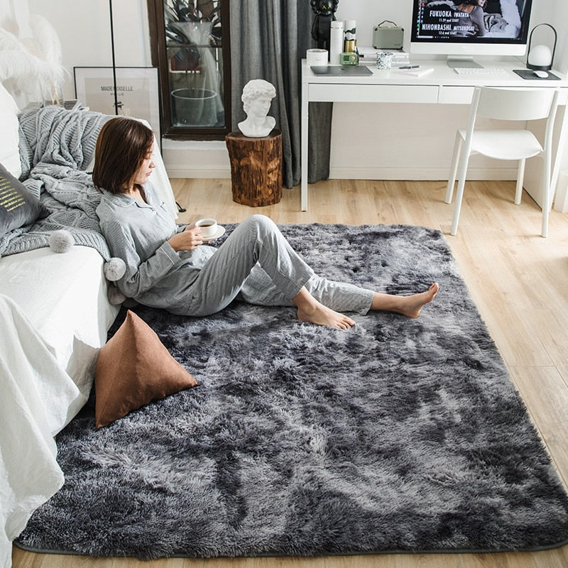 Soft Fluffy Cloakroom Rugs For Living Room - modernbedspace