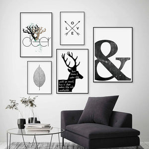 Nordic Abstract Canvas Paintings Home Decor - modernbedspace