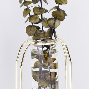 Nordic Style Glass Iron Simple Art Vase - modernbedspace