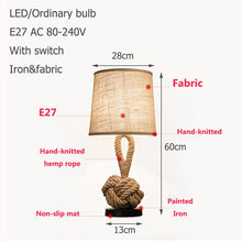 Nordic Country Fabric Iron Table Lamp - modernbedspace