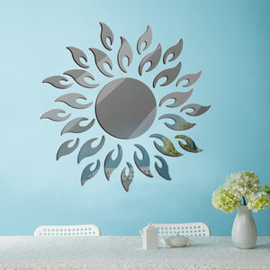 Removable 3D Sunshine Decorative Wall Mirror