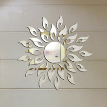 Removable 3D Sunshine Decorative Wall Mirror - modernbedspace