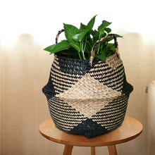 Natural Rattan Basket Flower Pot - modernbedspace