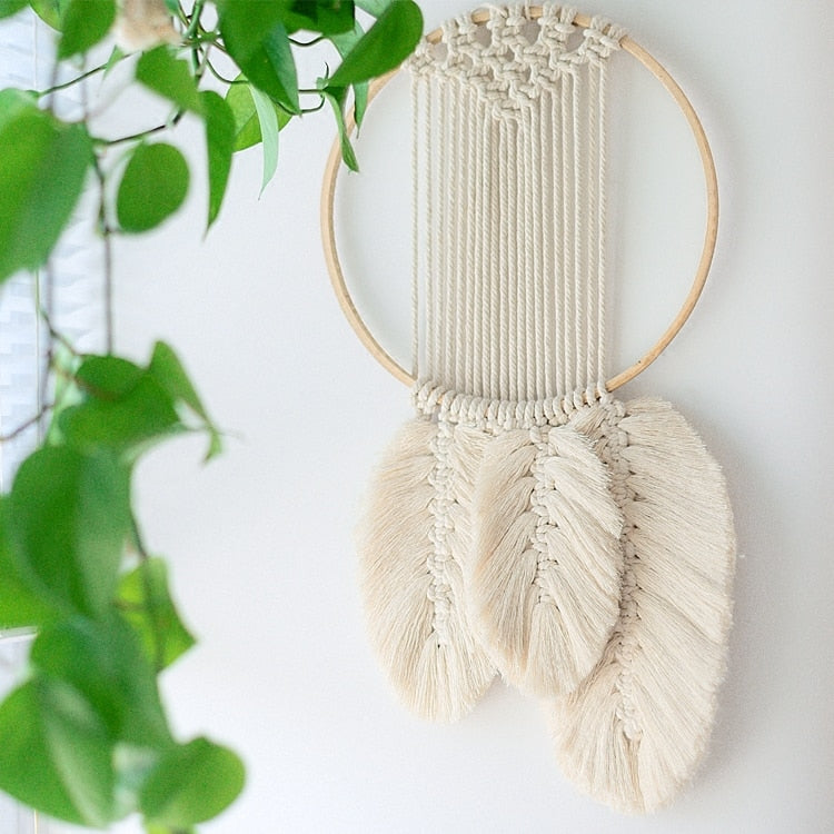 INS Wall Hanging Macrame Decor Large Above Bed Neutral Wall Decor Boho Home Decor Woven Wall Hanging Tapestry - modernbedspace
