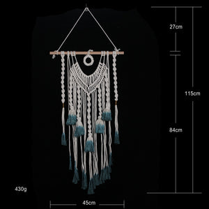 New Hand Knotted Macrame Wall Art - modernbedspace