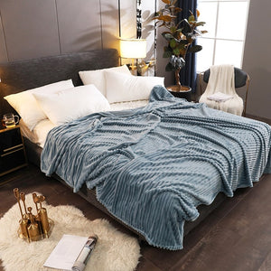 Soft Warm Square Flannel Blanket Throws - modernbedspace