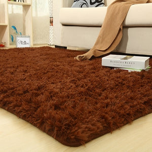 Colorful Solid Carpet Thicker Bathroom Rugs