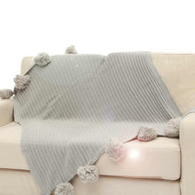 Cotton Pom Crochet Thread Throws - modernbedspace