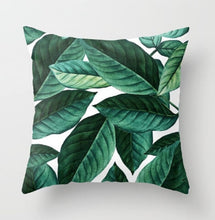Green Leaves Throw Case Cusion - modernbedspace