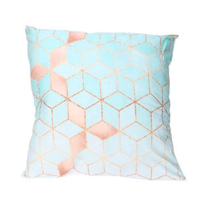 3D Geometric Polyester Mosaic Cushion Cover