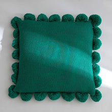 Knitted Pillow Case Fulffy Ball Square - modernbedspace