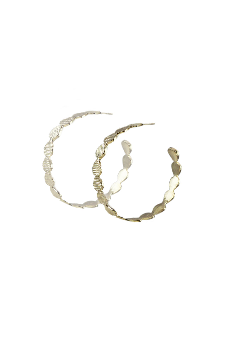 Gold Collection Etched Circle Hoops