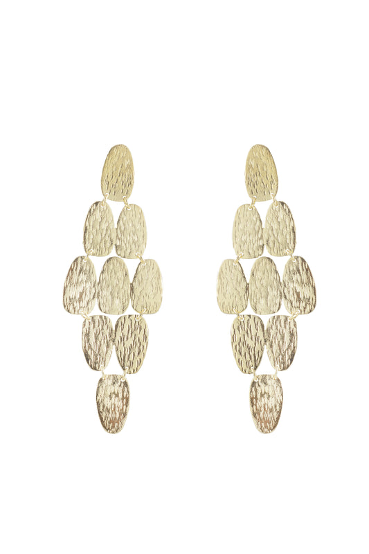 Gold Collection Hinge Textured Earrings in Gold