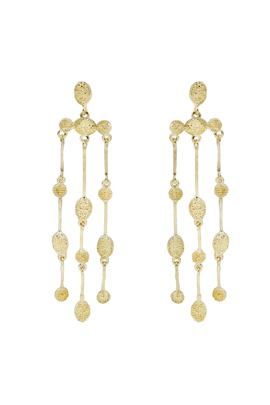 Gold Collection Stem Drop Earrings in Gold