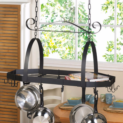 Angular Iron Kitchen Pot Rack
