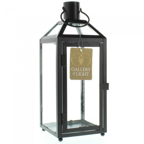 Classic Metal Candle Lantern - 12 inches
