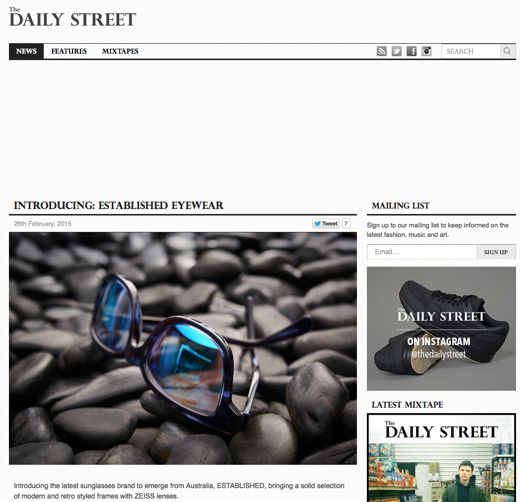 The Daily Street - Introducing ESTABLISHED EYEWEAR