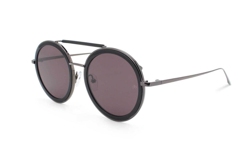 CASTOR BLACK - Round Sunglasses - EstablishedStore.com